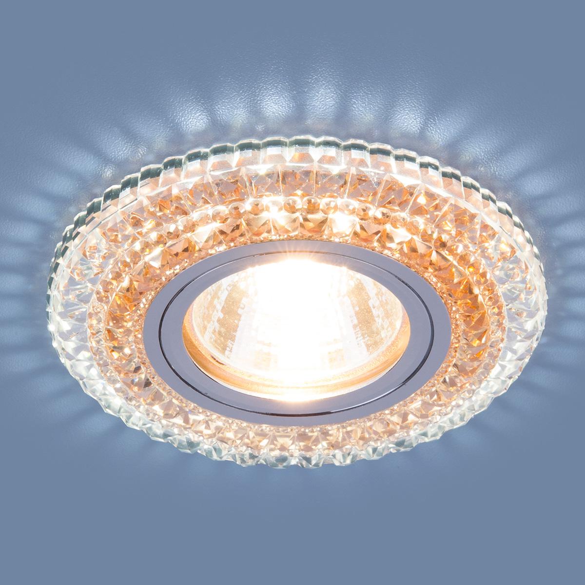 Точечный светодиодный светильник 2193 MR16 CL/OR прозрачный/оранжевый