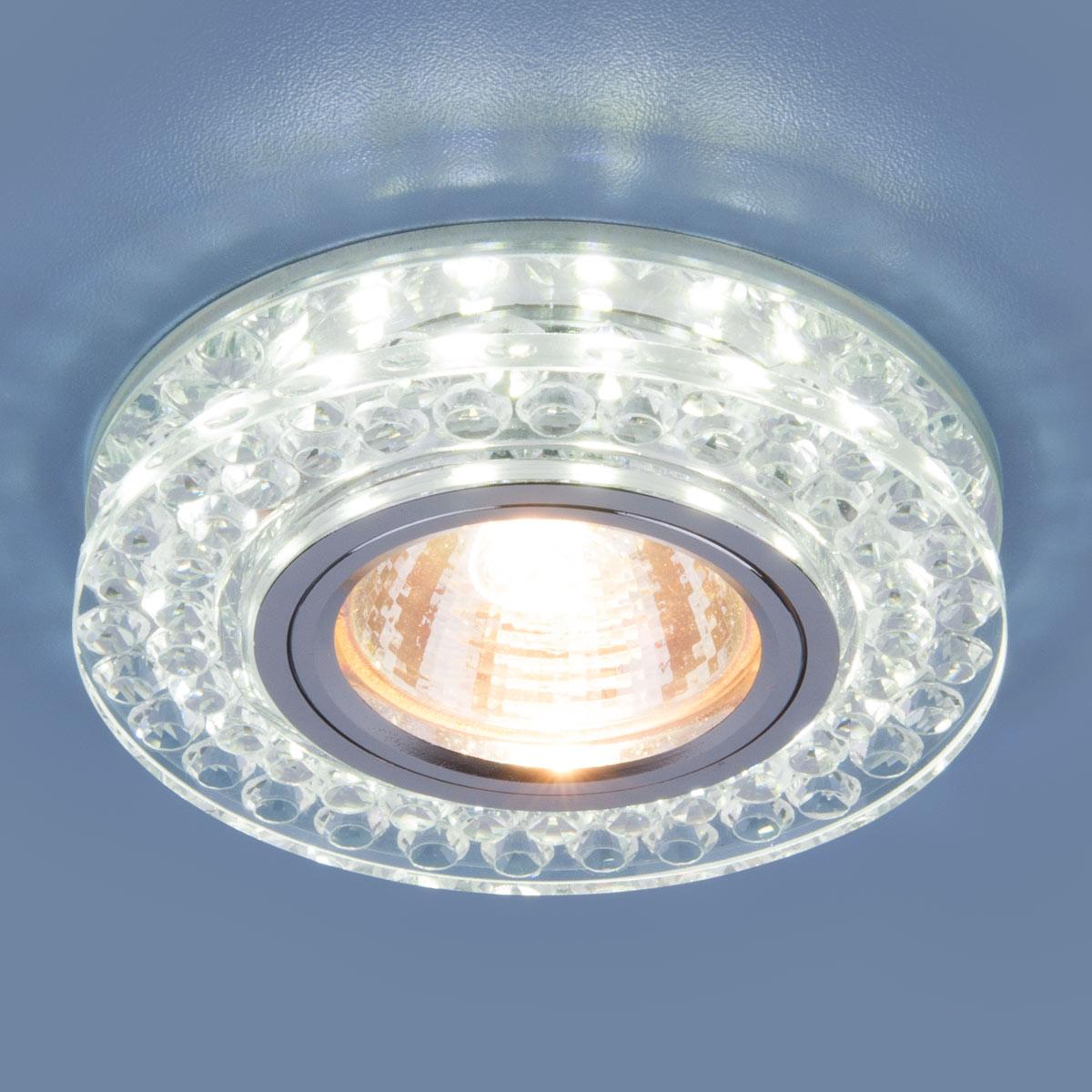 Точечный светодиодный светильник 8381 MR16 CL/SL прозрачный/серебро