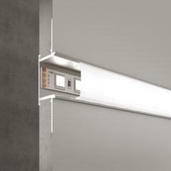 Встраиваемый алюминиевый профиль для светодиодной ленты LL-2-ALP013