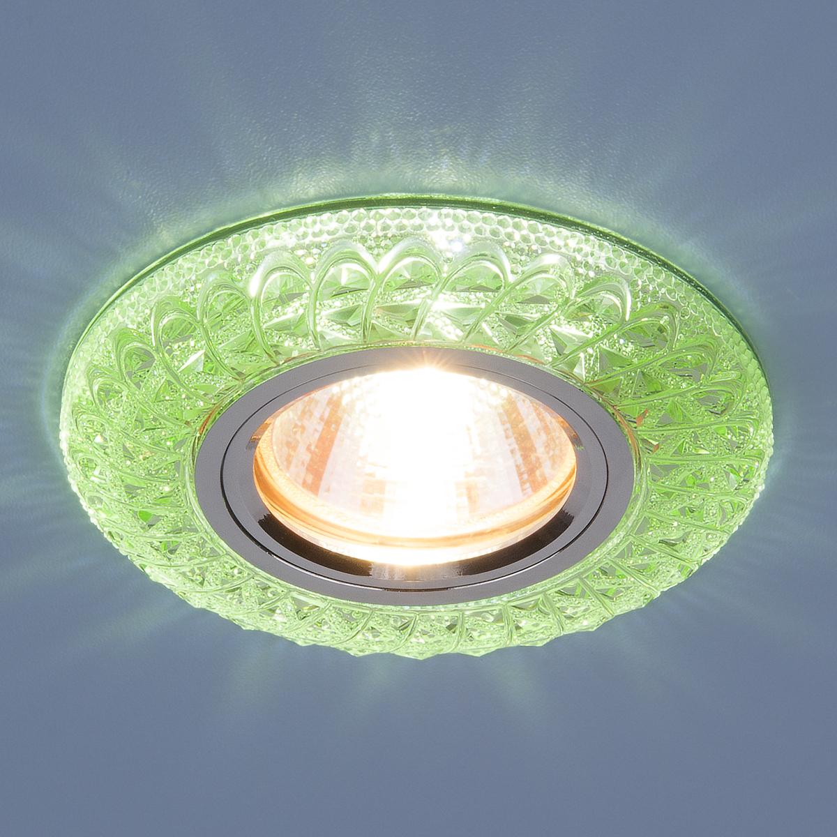 Встраиваемый точечный светильник со светодиодной подсветкой 2180 MR16 GR зеленый