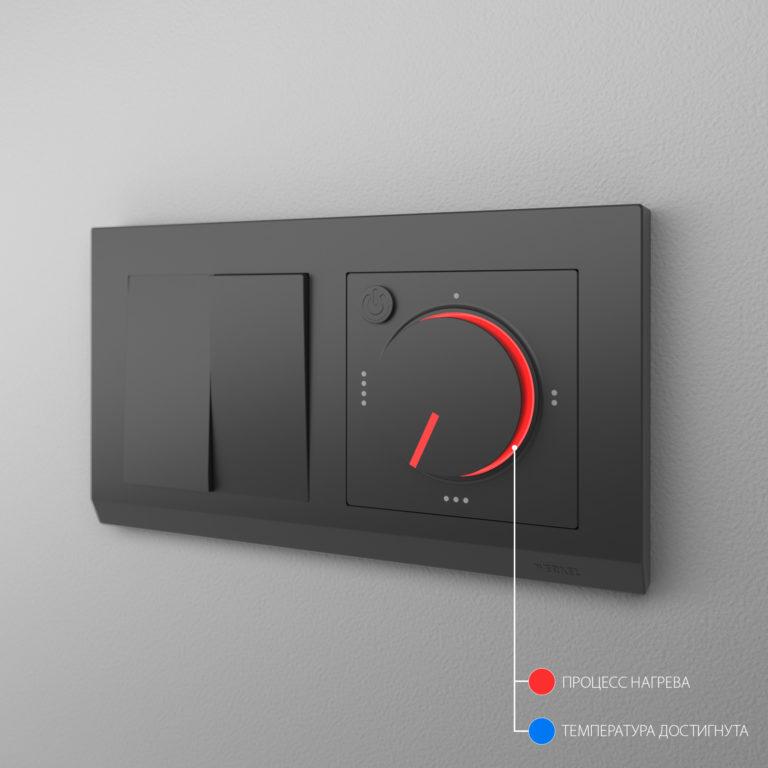 Терморегулятор электромеханический для теплого пола (черный матовый) W1151108