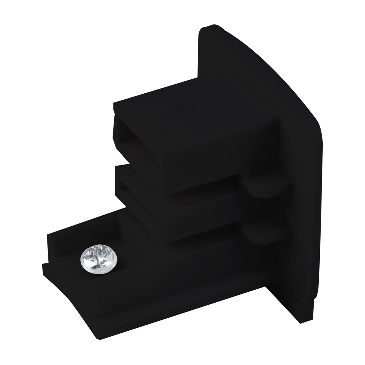 Заглушка для трехфазного шинопровода черная TRB-1-3-BK