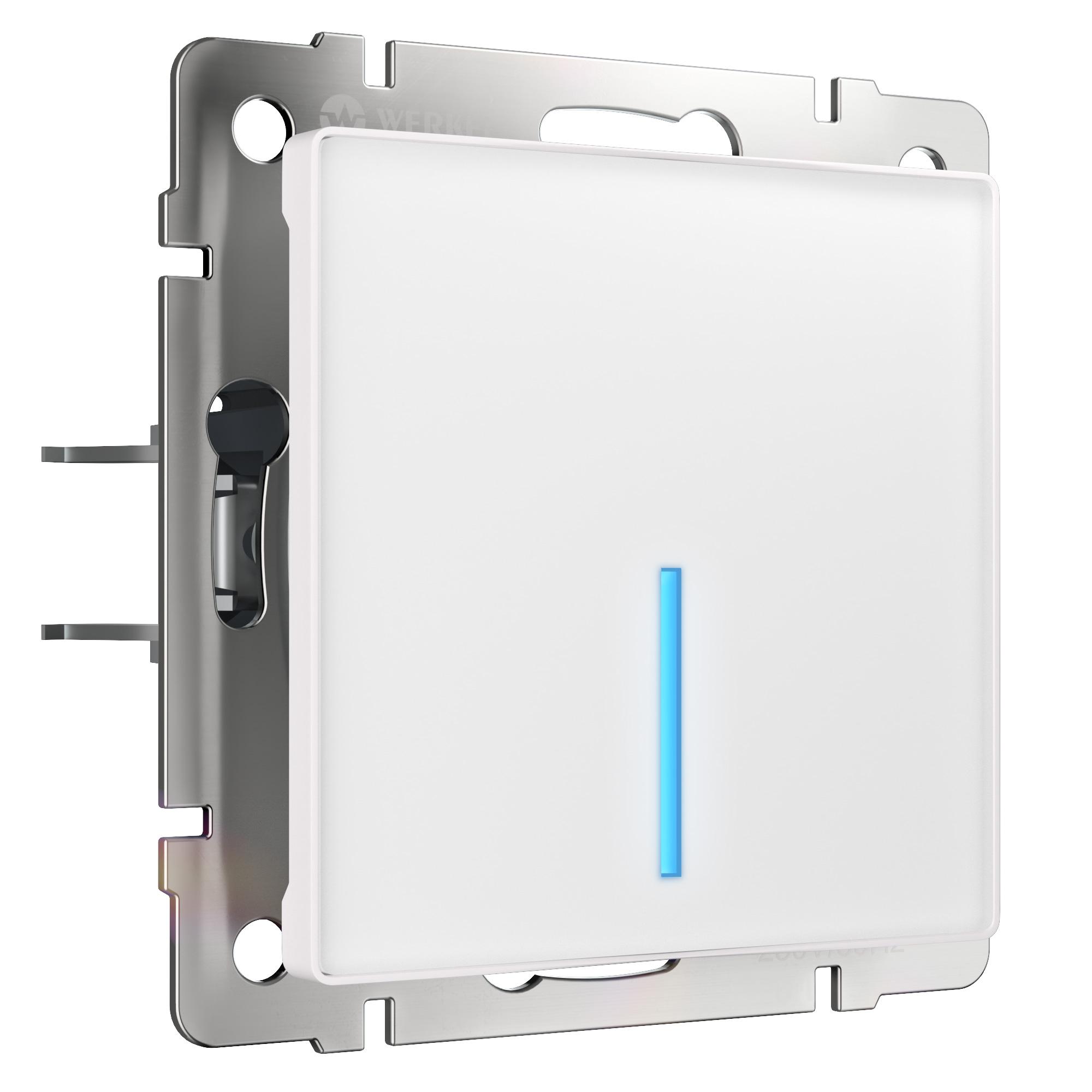 Сенсорный выключатель одноклавишный с управлением по Wi-Fi (белый) W4510601