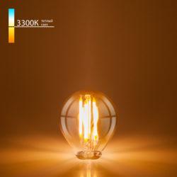 Филаментная светодиодная лампа Mini Classic 6W 3300K E27 (G45 тонированный) BLE2751