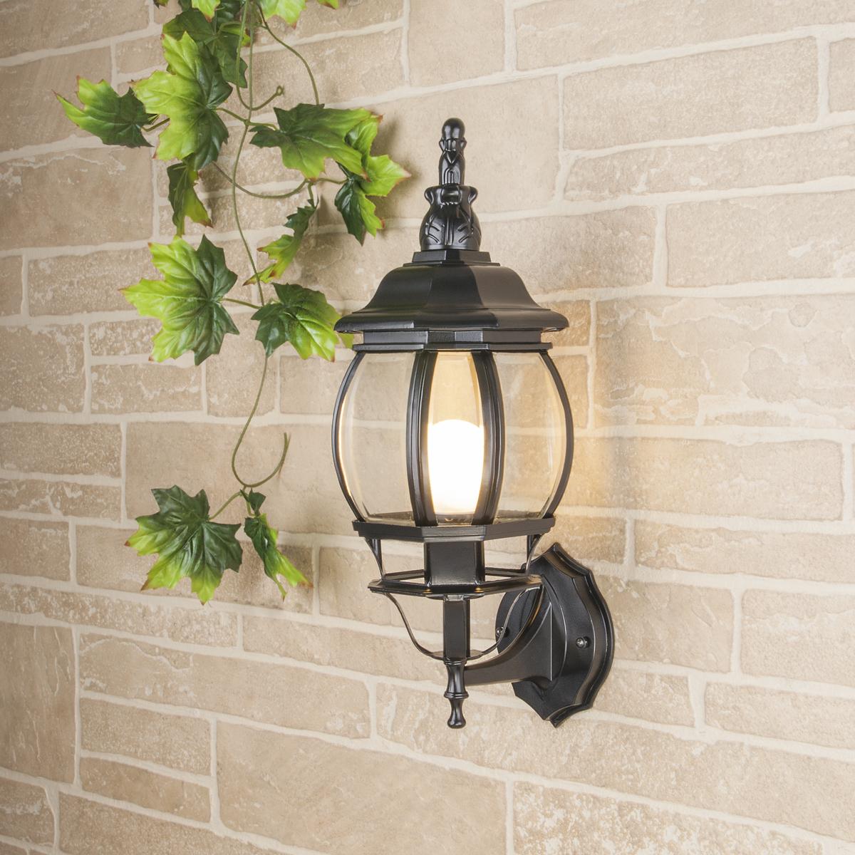 Уличный настенный светильник GL 1001U черный