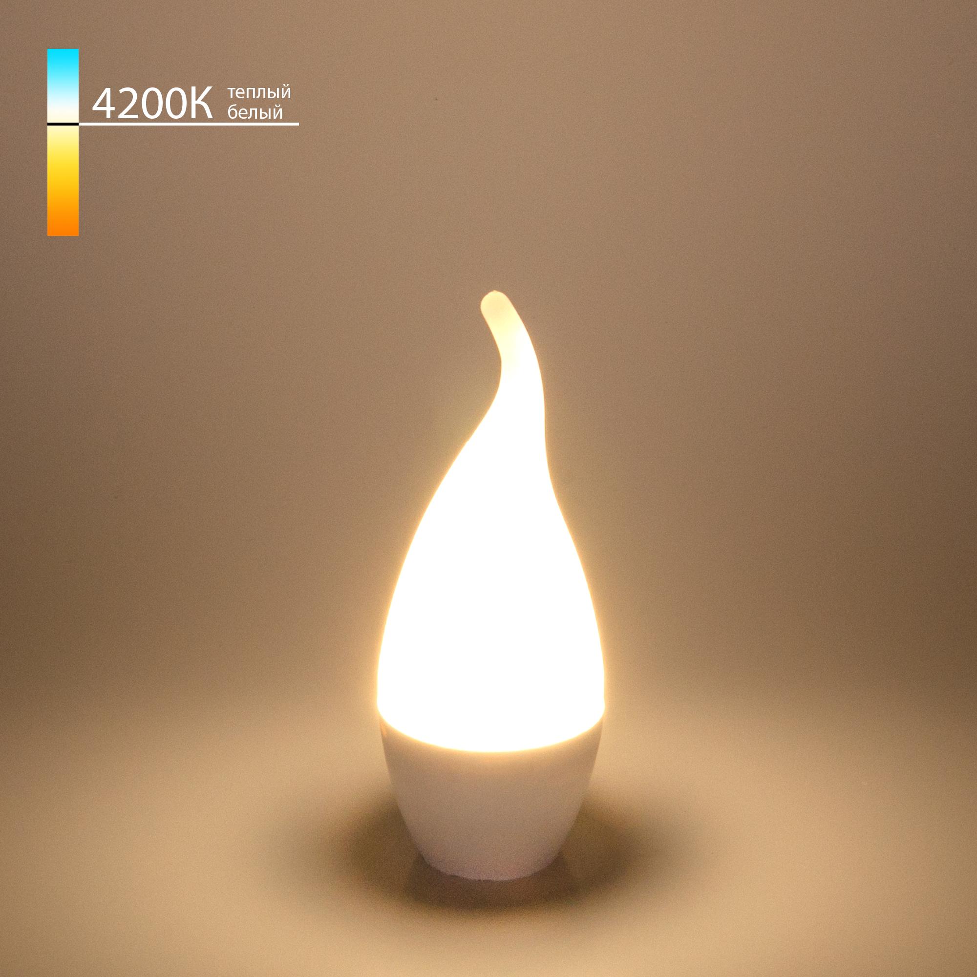 """Светодиодная лампа """"Свеча на ветру"""" CA37 6W 4200K E14 СDW LED D 6W 4200K E14"""