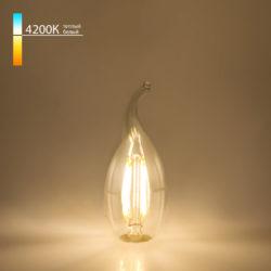 "Филаментная светодиодная лампа ""Свеча на ветру"" C35 7W 4200K E14 BLE1417"