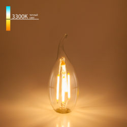 "Филаментная светодиодная лампа ""Свеча на ветру"" C35 7W 3300K E14 BLE1416"