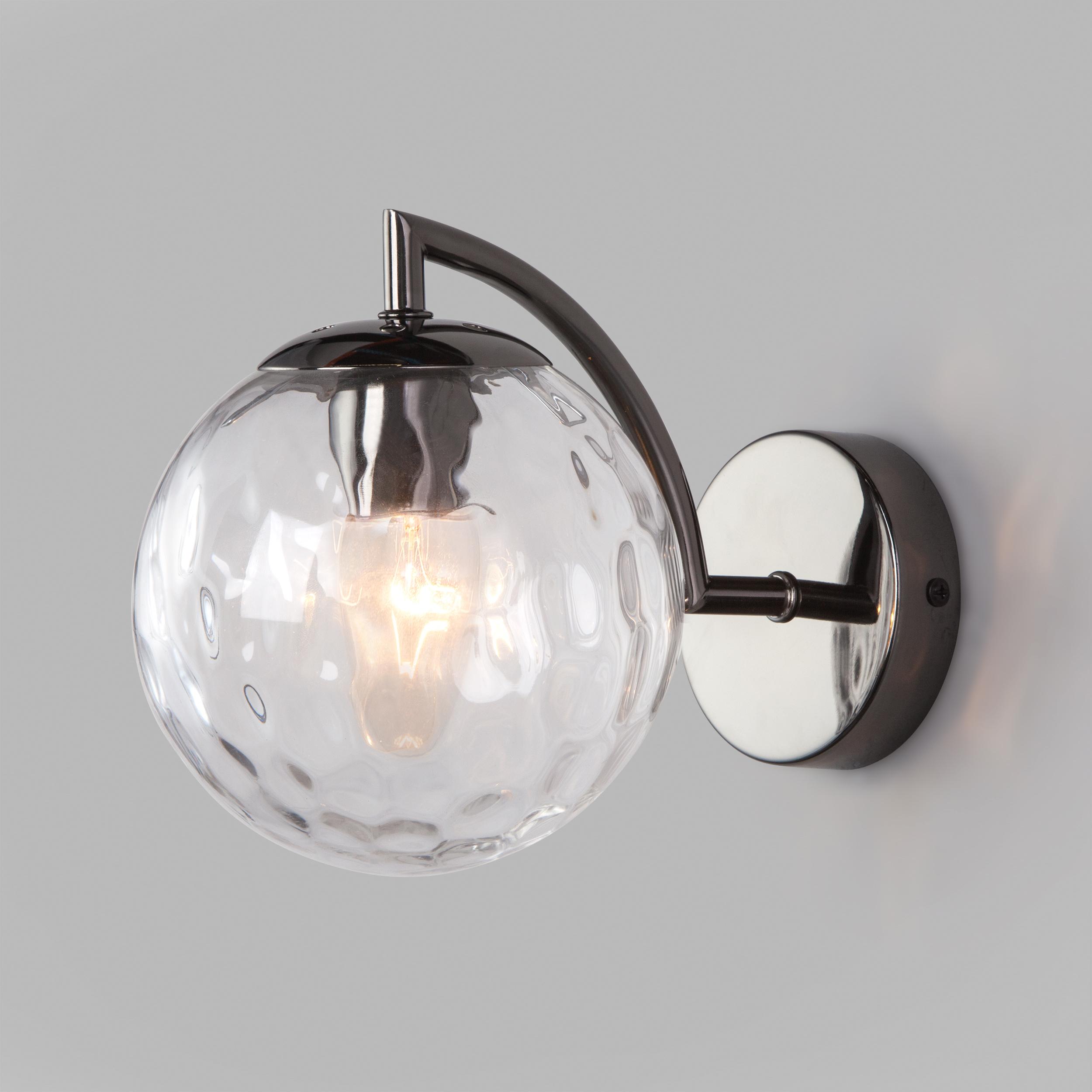 Настенный светильник с плафоном 30178/1 черный жемчуг