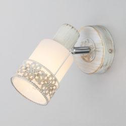 Настенный светильник 20025/1 белый с золотом / хром