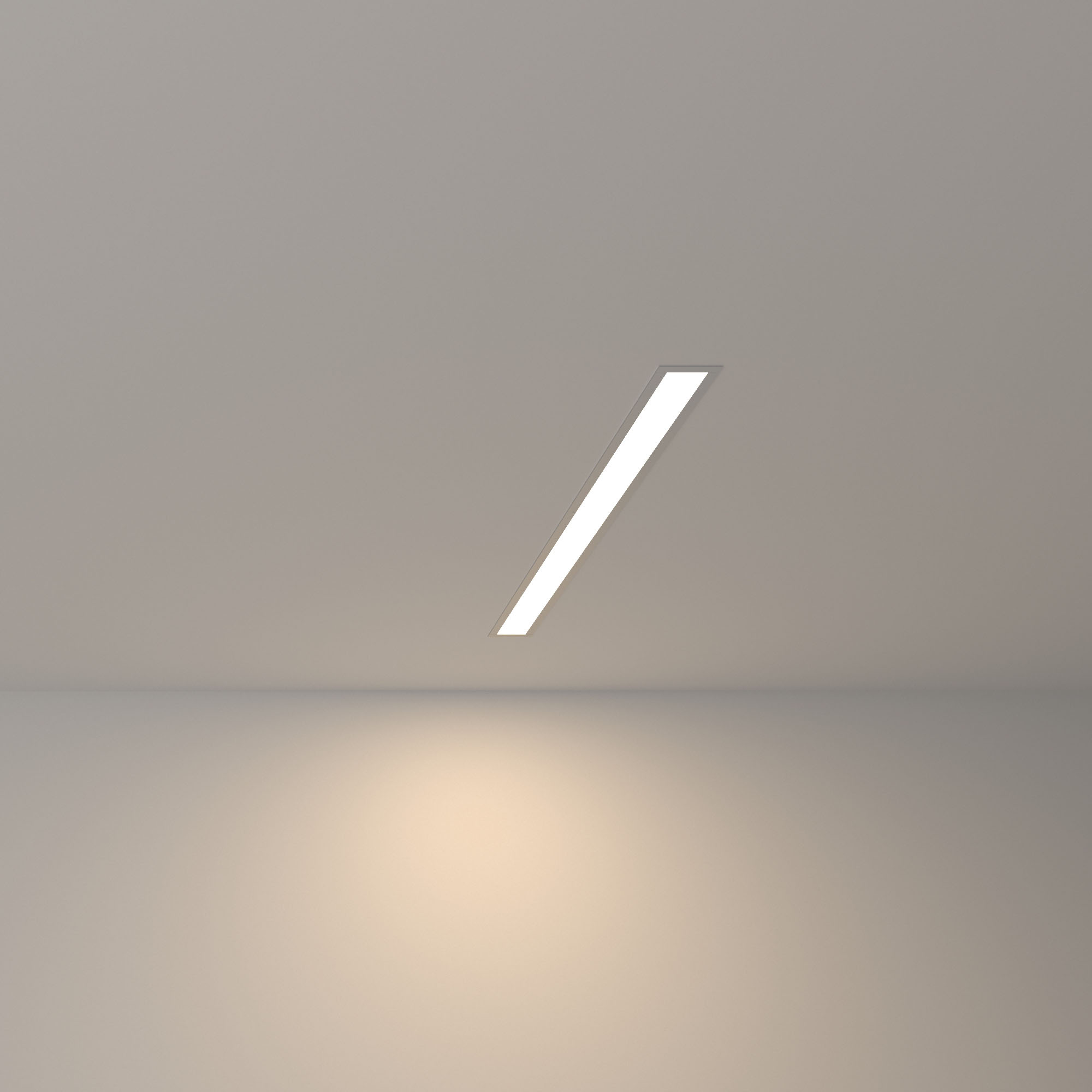 Линейный светодиодный встраиваемый светильник 53см 10Вт 4200К матовое серебро 100-300-53